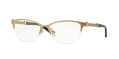 5910dd8fc3 Versace Women s VE1228 Brushed Gold 53mm Eyeglasses