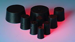 United Scientific RSTPK3 Rubber Stopper, 00 to 7 Sizes Assortment, 1-Hole by United Scientific Supplies