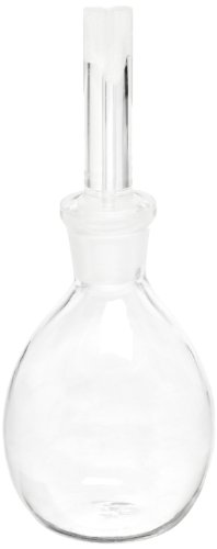 (American Educational 7-412-2-A Borosilicate Glass 25mL Uncalibrated Specific Gravity Bottle with Ground Glass Stopper (Bundle of 5))
