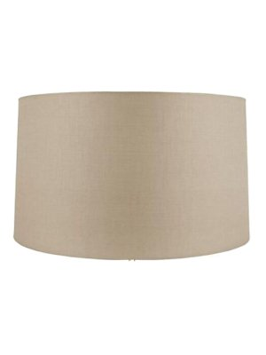 Upgradelights All Natural Sand Linen 19 Inch Lampshade Replacement 19x19x14 (Barrel Shade Pendant)