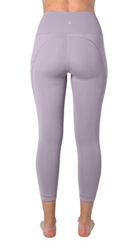 90 Degree By Reflex 22'' Yoga Capris - Yoga Leggings - Yoga Capris for Women - Iced Mauve - XS by 90 Degree By Reflex (Image #2)