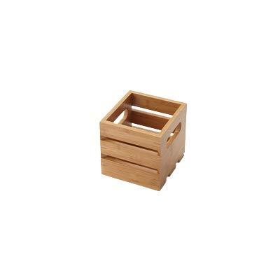 American Metalcraft WTBA6 Wooden Crate, Bamboo, 6''