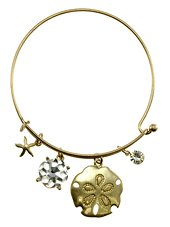 Womens Jewelry, Flower, Gold Tone Metal Hook Bangle w/ Assorted Accents Crystal Accent Rhinestone Accent Flower Gold Tone Metal Hook Bangle Assorted Accents - Materials: Metal - Length: Diamter: 2.5 Inch (Crystal Accent Gold Tone Key)