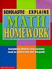 Scholastic Explains Math Homework, , 0590397540
