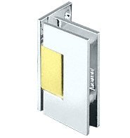 C.R. LAURENCE GEN044CBA CRL Chrome with Brass Accents Geneva 044 Series Wall Mount Offset Back Plate (Chrome Accent Wall Mount)