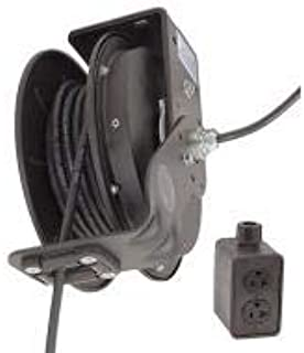 product image for Kh Industries Retractable Cord Reel, 20 Max Amps, Cord Ending: Quad Box Receptacle, 25 ft Cord Length - RTBB3LB-1DD520-J12F