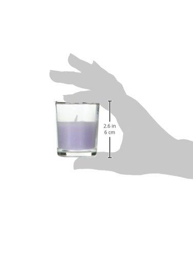 Lavender Round Glass Zest Candle 12-Piece Votive Candles