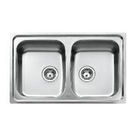 Teka Edelstahl Spüle Küchenspüle Spültisch Spülbecken Einbauspüle mit zwei Becken, UNIVERSO 2C CN MTX