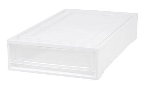 Iris Underbed Storage - IRIS Under Bed Box Chest Drawer, White