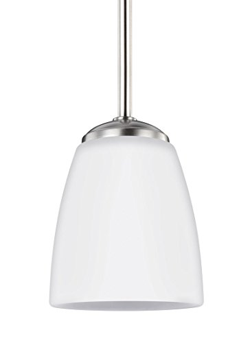 Sea Gull 6116601-962 Bannock Pendant, 1-Light 75 Watts, Brushed Nickel
