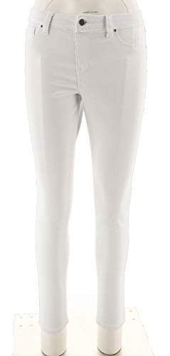 Laurie Felt Silky Colored Denim Pull-On Skinny Ankle Jeans White S New A301508 from Laurie Felt