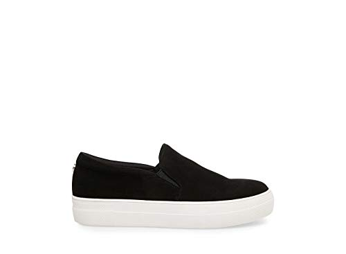 Steve Madden Women's Gills Fashion Sneaker, Black, 8 M ()