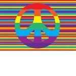 Decorative Kid Rugs-Groovy Peace-Fun Rugs-19''x29''