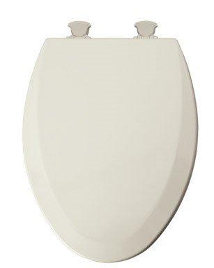 Mayfair Elongated Toilet Seat Beveled Wood, Elongated, Molded, Premium Durable Multi Coat Enamel Bis ()
