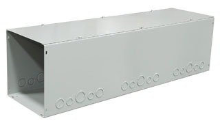 Milbank 101036-GSC1-NK ANSI 61 Gray Polyester Powder Coated G90 Gauge Steel Lay-In Wireway 36 Inch x 10 Inch x 10 Inch
