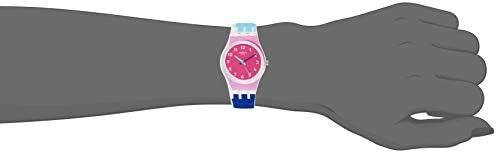 Swatch Women's Quartz Watch with Silicone Strap, Multicolour, 16 (Model: LW166)