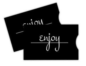 Gift Card Sleeve - Black Script Enjoy (100 pack)
