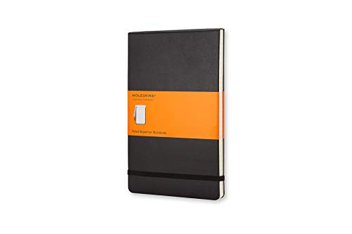 (Moleskine Classic Hard Cover Reporter Notebook, Ruled, Large (5