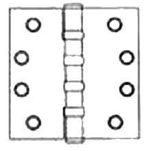 Deltana DSB55B 5 x 5 Solid Brass Square Corner Ball Bearing Mortise Hinge - Pa, Polished Brass by Deltana - Bearing Square Deltana Hinge