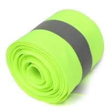Just In Trend - Flame Resistant FR Sew On High Visibility Hi Vis Retro reflective tape (2'' x 25 yds, Lime/Silver) by Just In Trend (Image #4)
