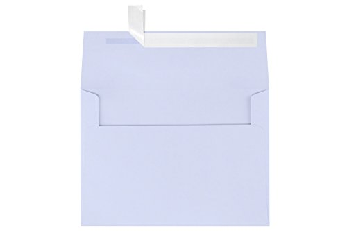 A7 Invitation Envelopes w/Peel and Press (5 1/4 x 7 1/4) - Lilac Purple (50 Qty) | Perfect for Invitations, Announcements, Sending Cards, 5x7 Photos | Printable | 80 pound Paper | SH4280-05-50
