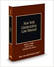 Book New York Construction Law Manual