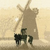 Heritage Crafts Silhouettes Series - Windmill Counted Cross Stitch Kit 14 count aida by Heritage Crafts ()