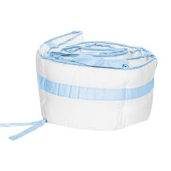 Modern Hotel Style Cradle Bumper, color: Light Blue, size: 15'' x 33'' by BabyDoll Bedding