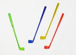 Plastic Cocktail Golf Club Stirrers - Case of 1000