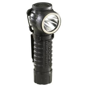 PolyTac Right Angle Flashlight features a textured parabolic reflector