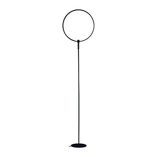 Brightech – Eclipse LED Floor Lamp Single Ring – Ring of Light Brings Sci-Fi Ambiance to Contemporary Spaces – 15 Watts – Dimmable Bright Light - Black Finish by Brightech