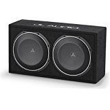 JL Audio CS210LG-TW1 PowerWedge sealed enclosure with two 10″ TW1 subwoofers