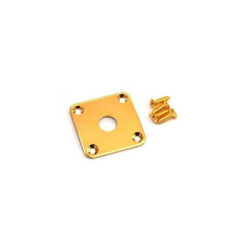Guitar curved Jack plate gold + screws fits Gibson Les Paul