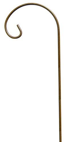 Panacea 89103 Shepherd Hook with Inside Curl, Brown, 4'H