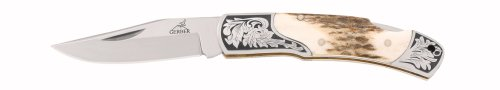 Gerber 22-41052 Stag Lock-Back Double Bolster Fine Edge Pocket Knife, Outdoor Stuffs
