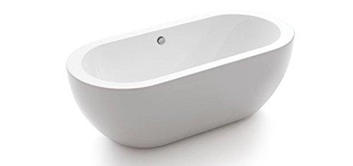 Modetti BT6629ABORABORA Freestanding Acrylic Bathtub, Glossy White by Modetti