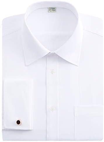 メンズワイシャツ 長袖 ノーマルサイズ ダブルカフス セミウェードメタルカフス付け