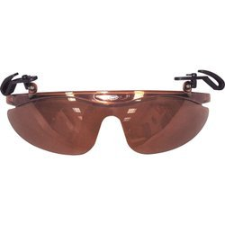 Brett Bros Baseball Cap Flip Narrow Sunglasses, Light Brown