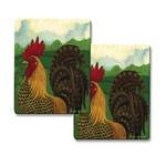 UPC 070775185752, Set of 2 Hallmark Rooster Design from Range Kleen, 7 x 7 inch Trivets