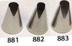 Ateco #881 & #882 & #883 - Set of 3 St Honore Pastry Tips - Stainless Steel by Ateco
