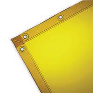 Wilson 36312, 6'x8' 14-mil, Gold, See Thru Welding Curtain (5 - Welding Gold Curtain
