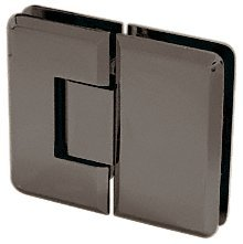 CRL Cologne 180 Series Oil Rub Bronze 180° Glass-to-Glass Hinge by C.R. Laurence