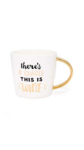 - Slant Collections Women's Chance This Is Wine Mug, Gold, One Size