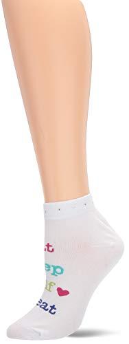 K. Bell Women's Eat, Sleep, Golf No Show Socks, White, Shoe Size: - Golf K Socks Bell
