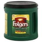 Folgers Decaffeinated Classic Roast Ground Coffee - 30.5 oz. can, 6 cans per case