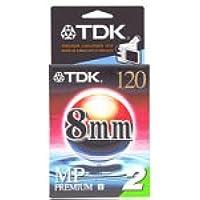 TDK P6-120MP 8mm MP Premium Camcorder Video Tape - 2 Pack
