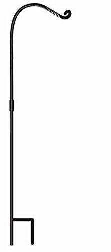 Birds Choice Hummingbird Feeder Pole Set, Black, 76-1/2-Inch
