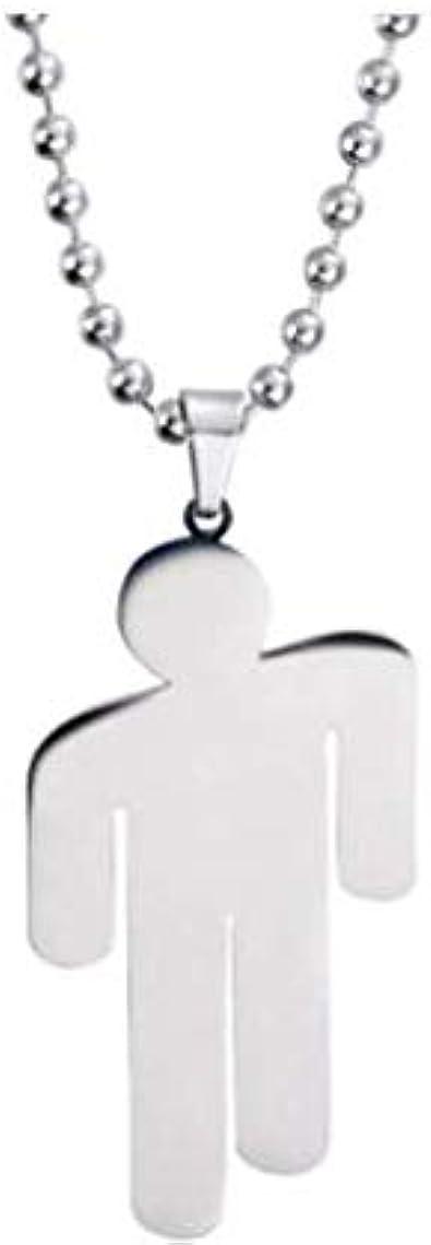 Aeljinh Aeljinh collier personnalit/é de la mode temp/érament en acier inoxydable pendentif collier Billie Eilish chanteur pendentif collier collier humano/ïde collier unisexe