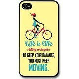 a Bicycle Albert Einstein Life & Love Inspirational Quote case for iPhone 4 4S ()