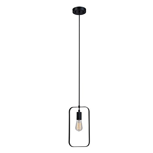 Globe Electric 65819 Finnley 1-Light Pendant Finish Cord, Matte Black